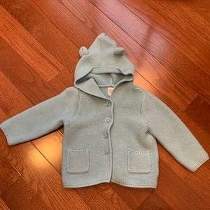 Gap Baby Garter Hoodie Sweater - EUC